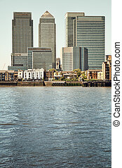 Skyscraper of Canary Wharf view from Greenwich
