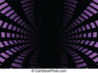 Pink tunnel squared