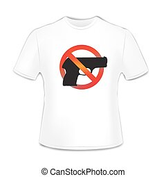 T-shirt with gun