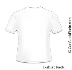T-shirt back side - Vector t-shirt back side