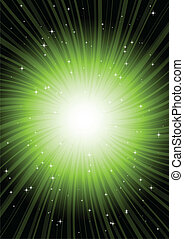 Green radial rotating spark