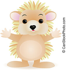 porcupine - Vector porcupine cartoon