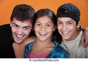 Caring Brothers and Sister - Two caring brothers with sister...