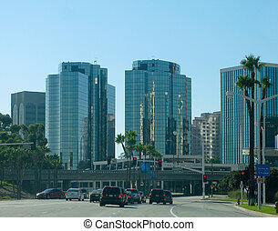 Long Beach - Driving through Long Beach, California with...