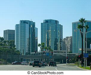 Long Beach - Driving through Long Beach, California with...
