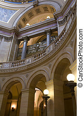 Minnesota Capitol Arches - Interior of Minnesota State...