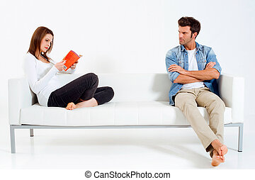 quot;separated couple on the sofa - separated couple on the...