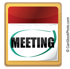 meeting calendar illustration isolated over white