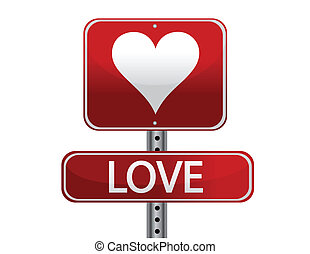 love sign illustration design isolated over white