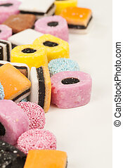 Liquorice candy - Assorted multicolored liquorice candy, an...