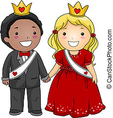 Valentine Couple - Illustration of a Valentine Couple...