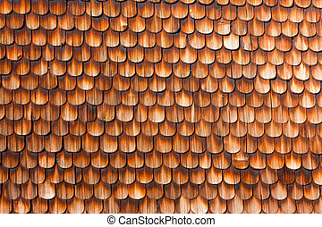 Wooden Shingles Background Pattern - Wooden Shingles of wall...