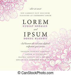Vector Pink Floral Background - Vector ornate pastel frame...
