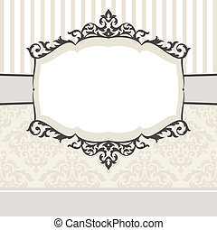 decorative vintage frame - abstract cute decorative vintage...