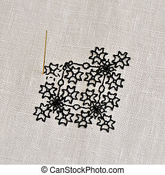 Elizabethan cross-stitch