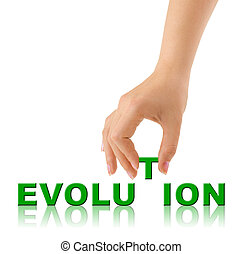 Hand and word Evolution