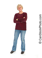 Middle aged woman standing
