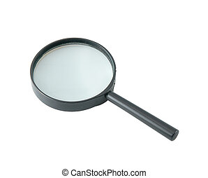 Magnifying Glass - magnifying glass isolated on a white...