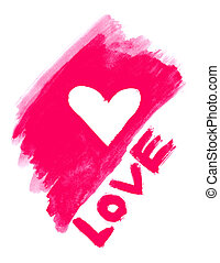 love symbol and word ''love'' - abstract love symbol and...