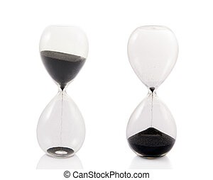Beginning and the End - A totally clear hourglass in two...