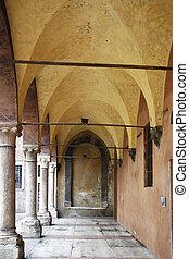 Verona - a portico in Verona, Italy