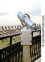 Spyglass monocular zoom lens at Cairo tower