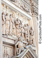 Sculptures in Prague - Detail of Loreta church decorated...