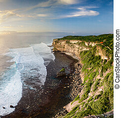 Sunset from the top of cliff - Sunset from the Pura Uluwatu...