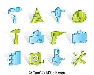 Building and Construction Tools icons - Vector Icon Set