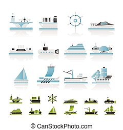 different types of boat and ships