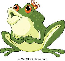 Żaba, Książę, usługiwanie, czuć się, całowany