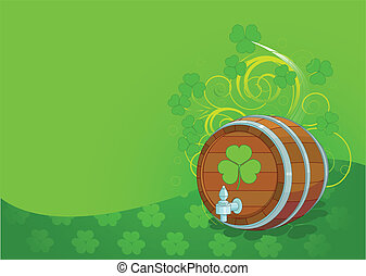 St. Patrick's Day design with beer