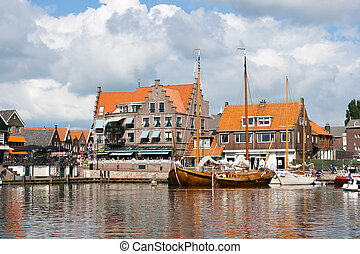 Volendam - Holland - Touristic town of Volendam in Holland