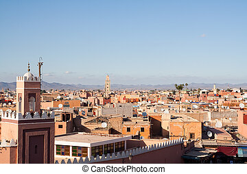 Marrakesh - Morocco - Historical walled city of Marrakesh,...