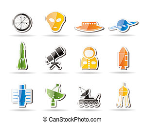 Simple Astronautics and Space Icons