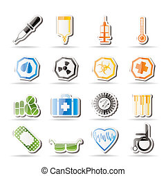Simple medical themed icons
