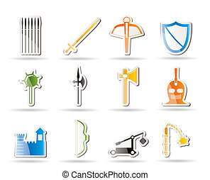 Simple medieval arms and objects