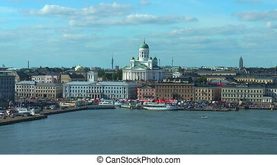 Zoom panorama of Helsinki, Finland