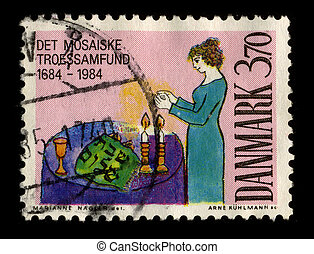 Postage stamp. - DENMARK-CIRCA 1984:A stamp printed in...