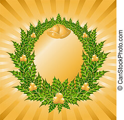 wreath with a gold bells