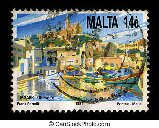 Postage stamp - MALTA-CIRCA 1991:A stamp printed in MALTA...
