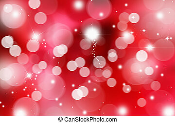 Valentines day background - Blurred lights background with...