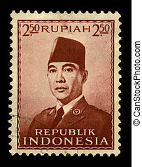 Postage stamp. - INDONESIA-CIRCA 1970:A stamp printed in...