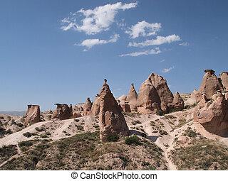Kappodkien - bizarre rock formations in Cappadocia, Turkey...