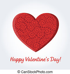 Valentines Day Card With Text, Vector Illustration