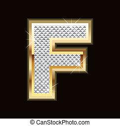 Letter F bling bling
