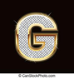 Letter G bling bling