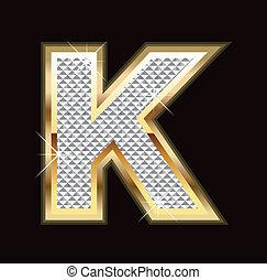 Letter K bling bling