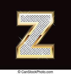 Z letter bling bling