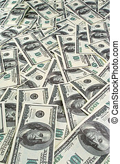 Background of banknotes dollars